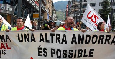 Els andorrans volen més drets laborals i sindicals