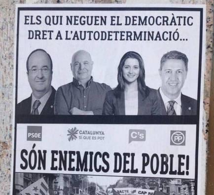 Cartells amenaçadors a Lleida