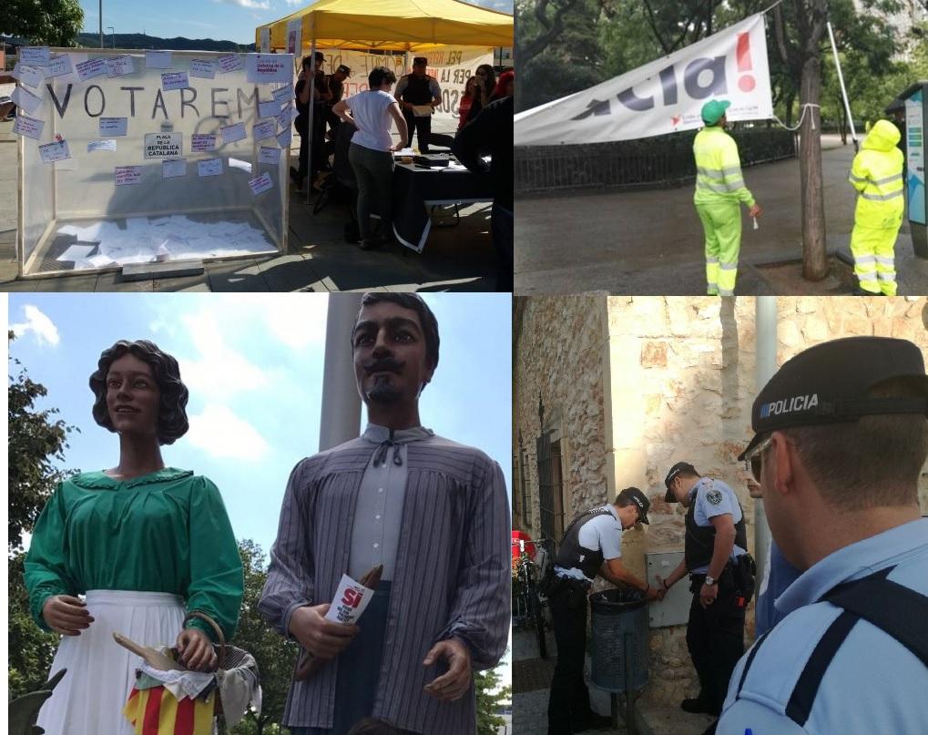 Els policies locals requisen material pel referèndum