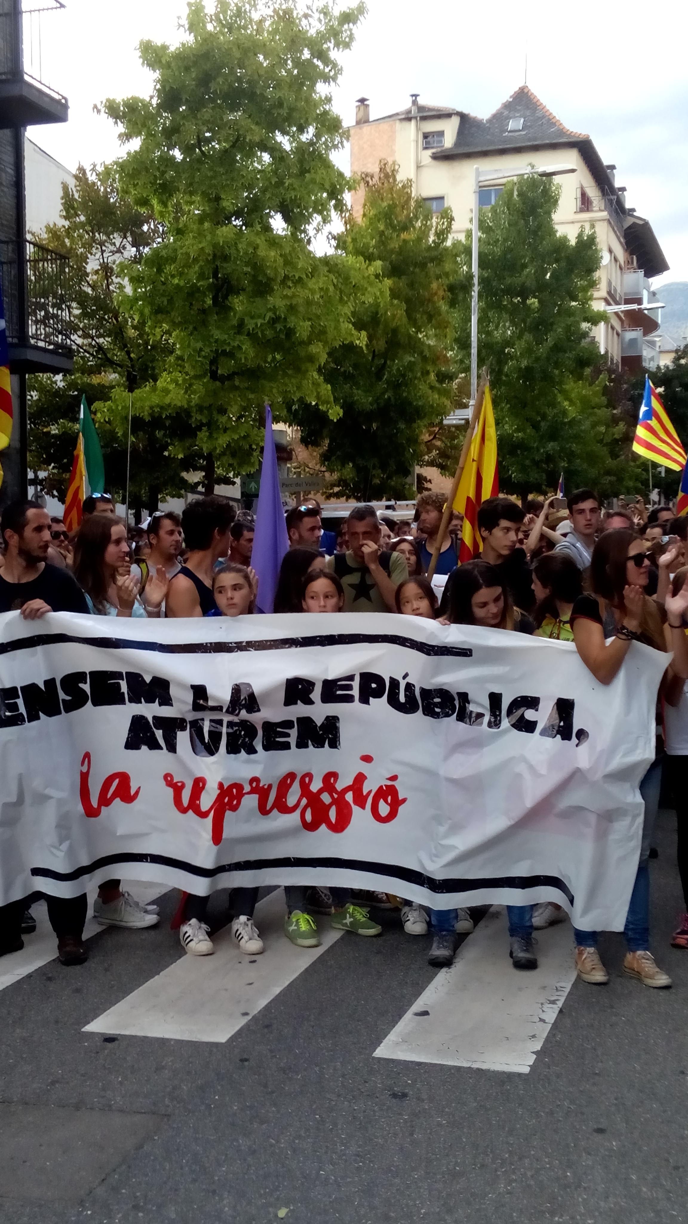 Multitudinària manifestació a la Seu i fi dels talls a l'N-145