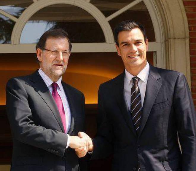 Sánchez pacta amb Rajoy emprendre la reforma constitucional