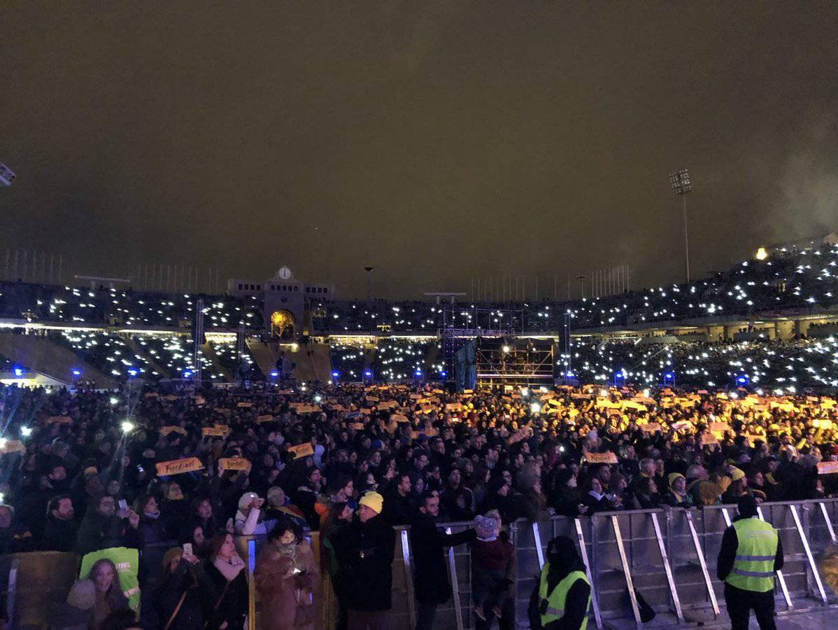El 'Concert per la llibertat' de l'ANC fa caixa pels presoners