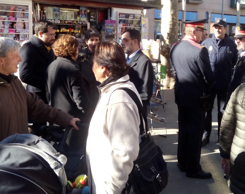 Batalla evita la foto a la Calderada al costat dels comandaments policials