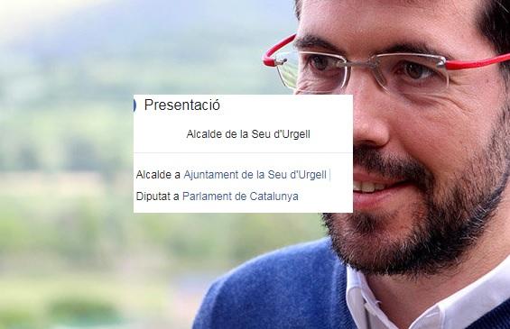 Albert Batalla se segueix presentant a les xarxes com a diputat