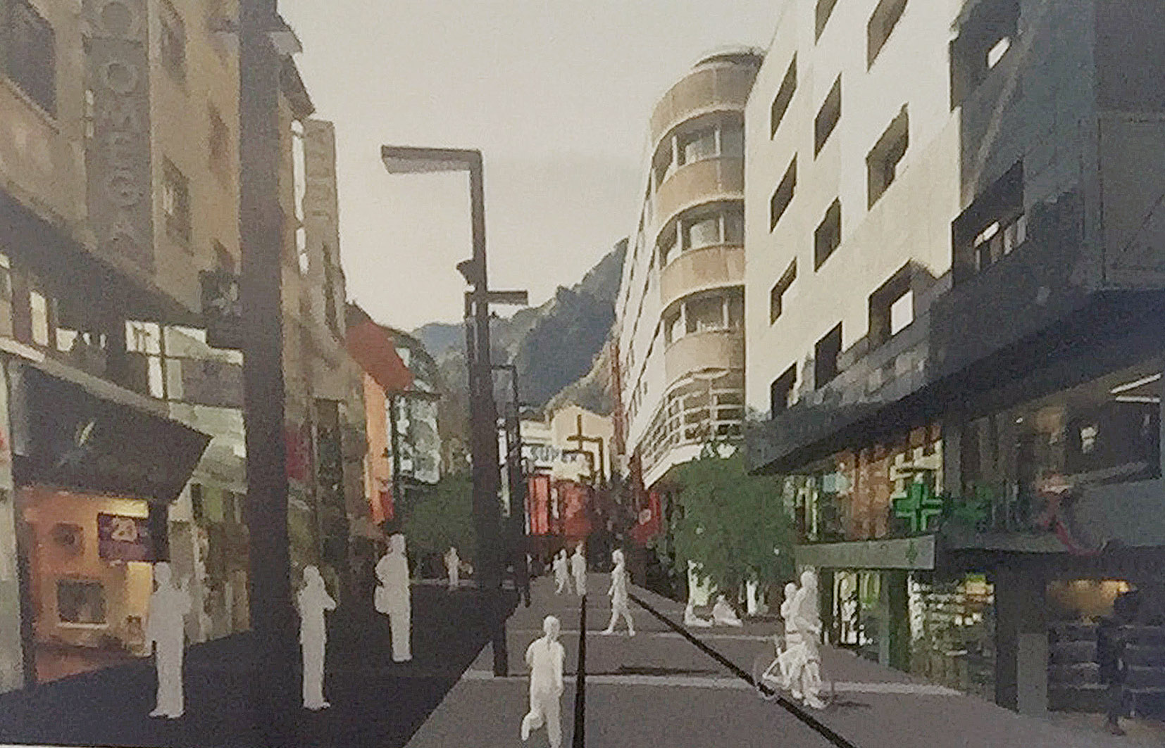 Marsol endeuta, per anys, Andorra la Vella amb les obres de Meritxell