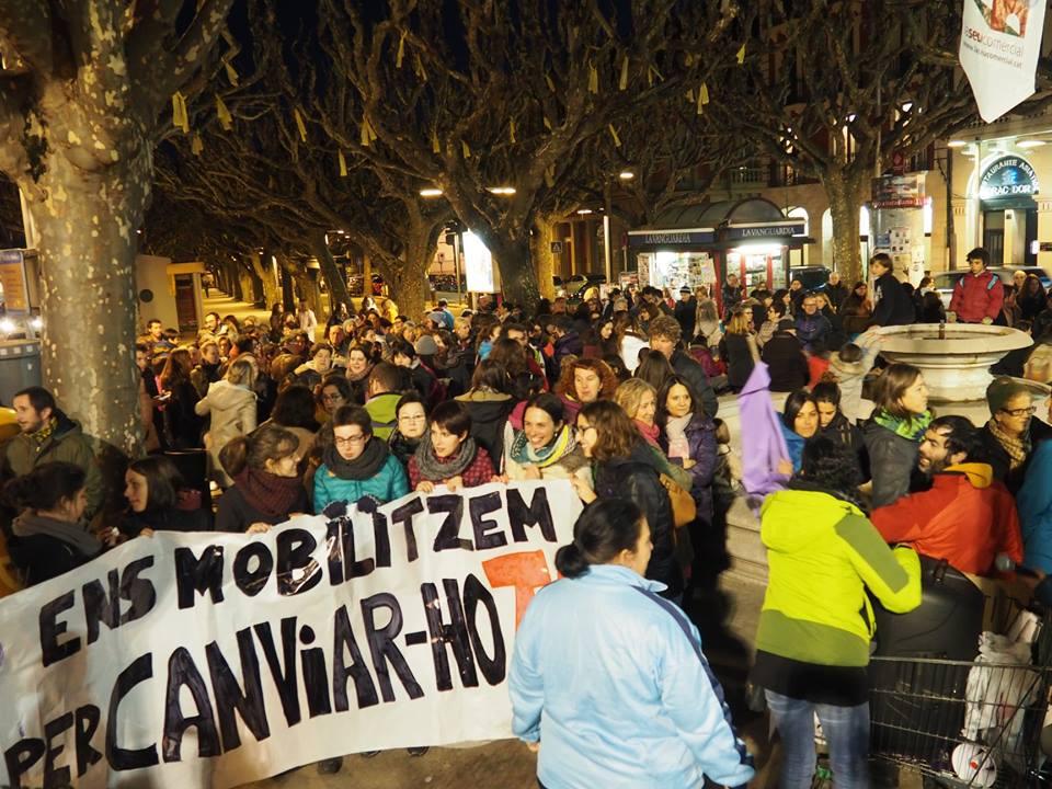 Manifestació feminista històrica a la Seu d'Urgell
