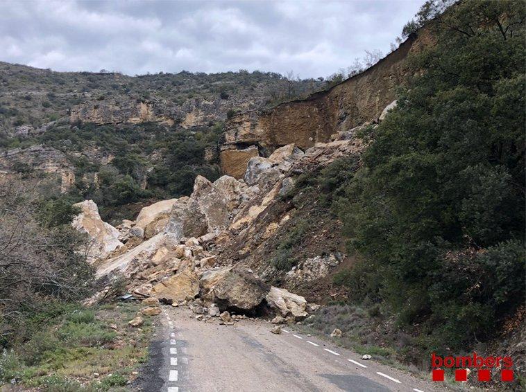 Moren els dos ocupants del vehicle sepultat per una esllavissada al Pallars Jussà