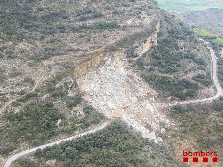 Continua la recerca de les persones sepultades per l'esllavissada al Pallars Jussà
