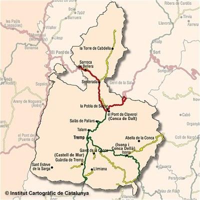 Una esllavissada podria haver sepultat un vehicle a una carretera del Pallars Jussà