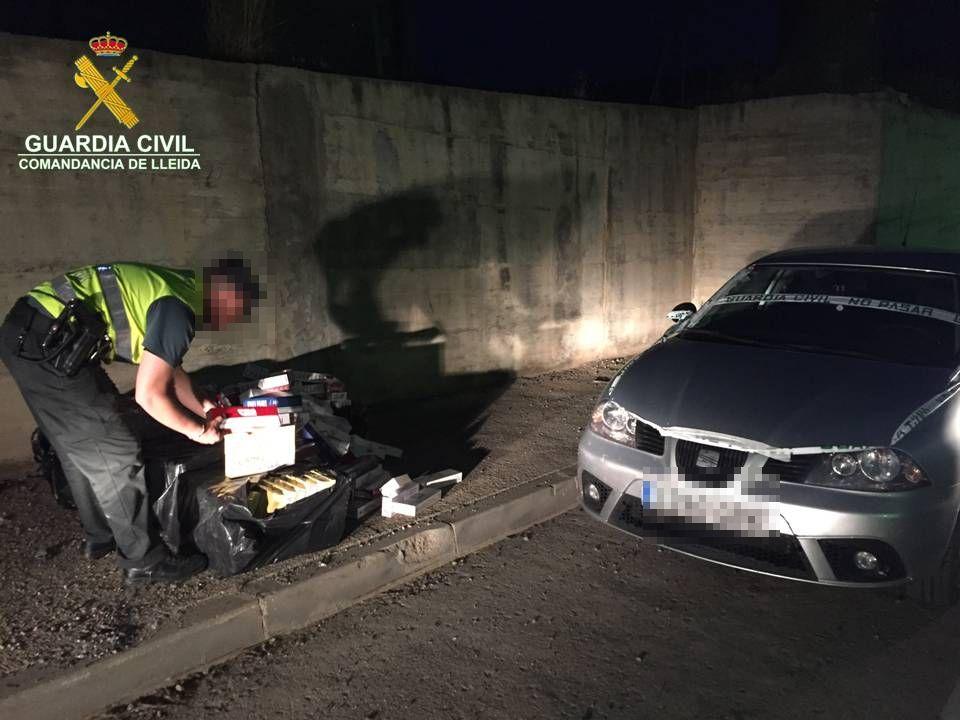 La Guàrdia Civil decomissa més de 3.000 paquets de tabac a Bellver de Cerdanya