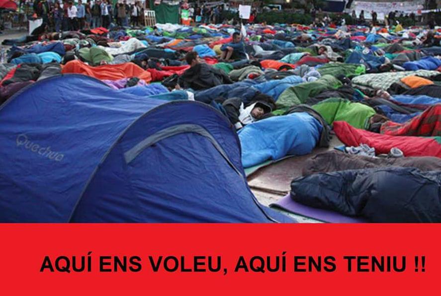 L'acampada contra els preus dels lloguers compta ja amb un centenar de participants