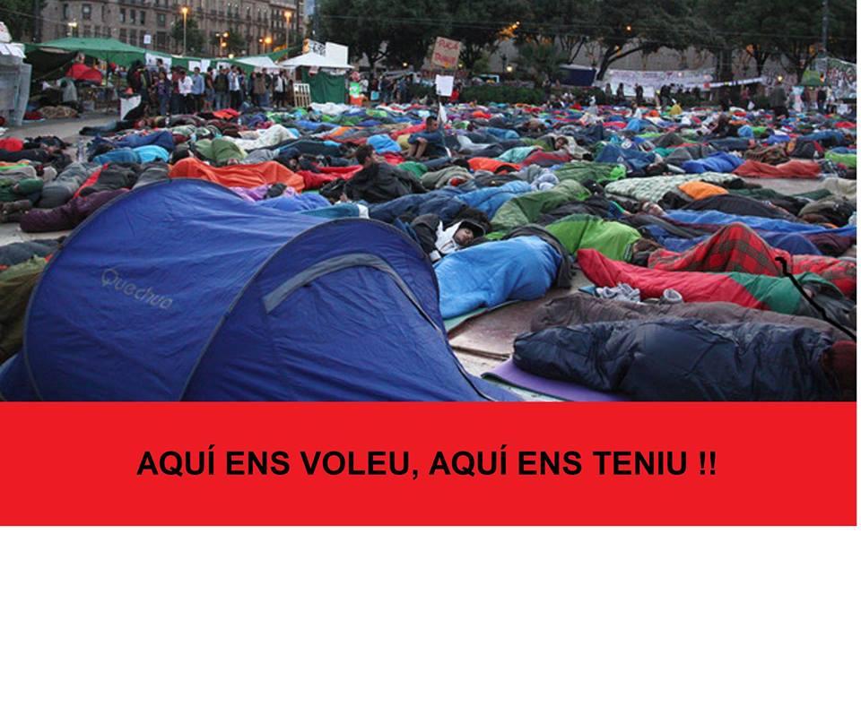 Els organitzadors de l'acampada contra els preus dels lloguers conviden al Govern