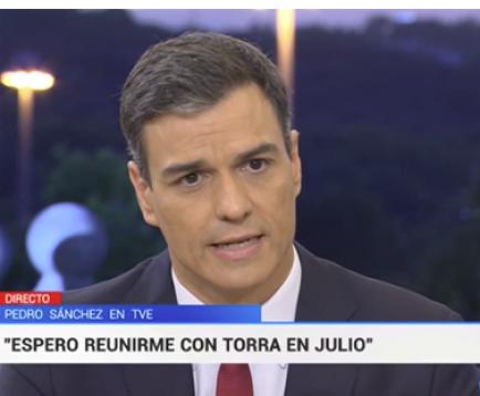 """Sánchez veu """"raonable"""" l'apropament dels presos independentistes"""