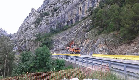 Comencen els treballs de perforació del túnel de Tres Ponts a la C-14