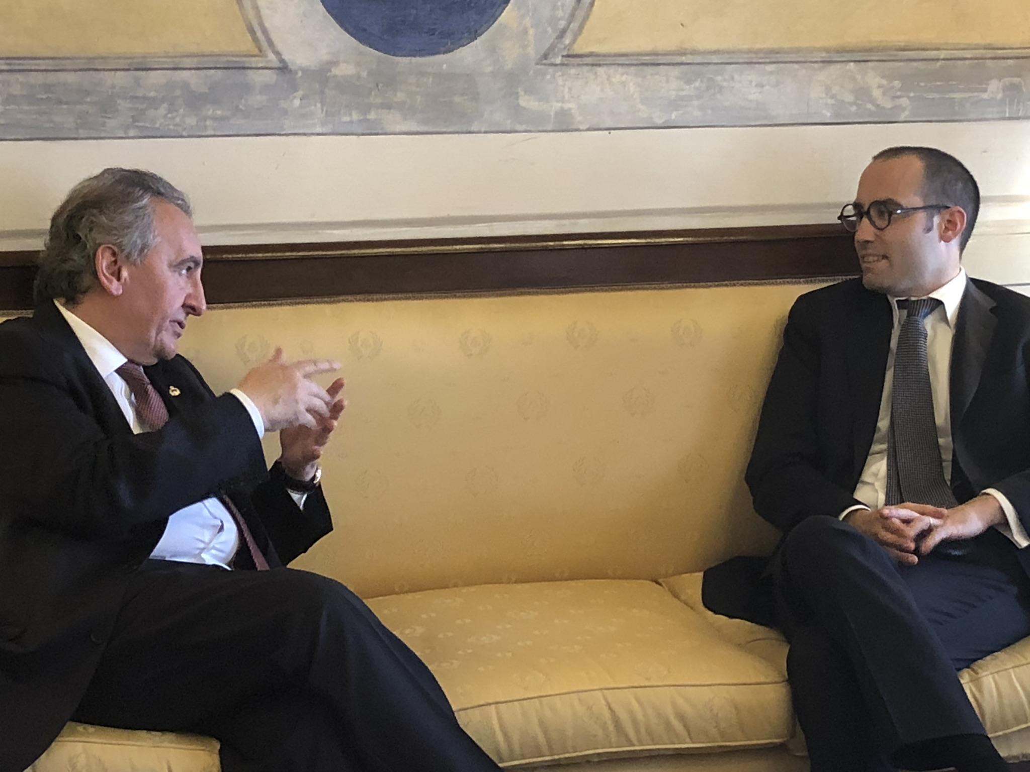 Una delegació d'SDP tracta sobre la Unió Europea i l'FMI a San Marino