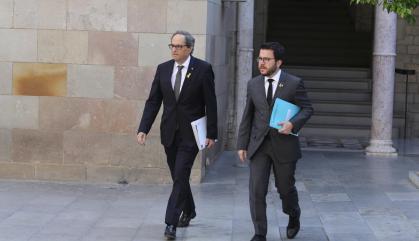"""Torra fa costat a Aragonès i avisa: """"No acceptarem cap sentència"""""""
