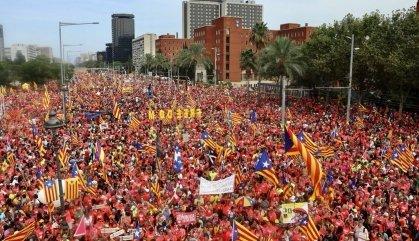 L'independentisme desborda un any més Barcelona per la Diada