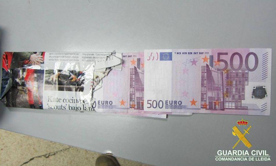 La Guàrdia Civil intervé 368.000 euros enguany a la frontera amb Andorra