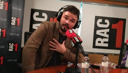 """Rufián: """"Em sento més proper a Carles Riera que a Eduard Pujol"""""""
