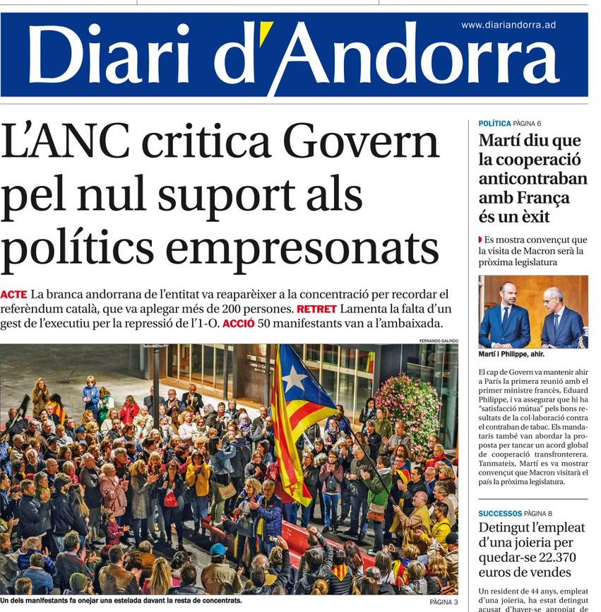 Dos diaris andorrans demanen i obtenen subvencions del govern de la Generalitat