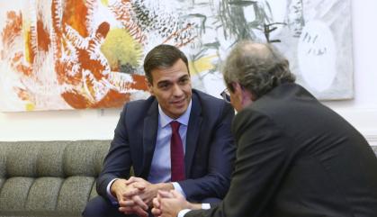 """Sánchez respondrà """"en el seu moment"""" els 21 punts de Torra"""