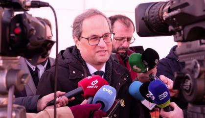 Torra invoca el fantasma d'una crisi de govern a Catalunya