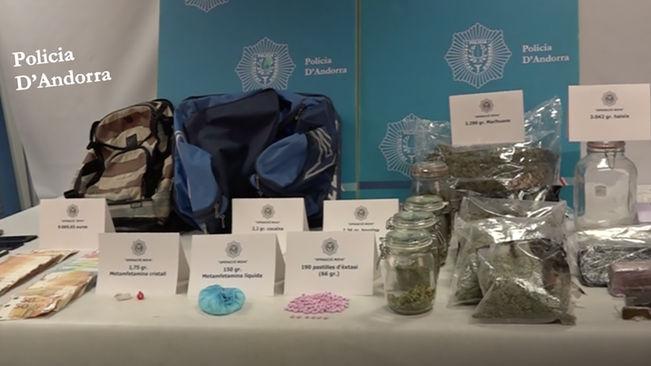 Desmantellada a Andorra una important infraestructura de venda de drogues