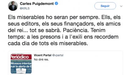 """Puigdemont insulta i amenaça els responsables d""""El Periódico'"""