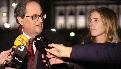 """Torra, sense """"esperances"""" amb Sánchez sobre l'autodeterminació"""