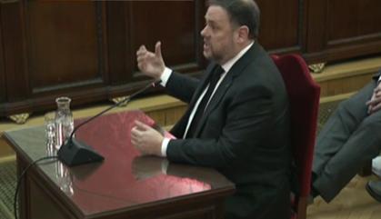 """Oriol Junqueras, al Tribunal Suprem: """"Em considero un pres polític"""""""