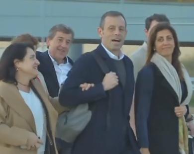 Sandro Rosell i el seu soci Joan Besolí, en llibertat provisional