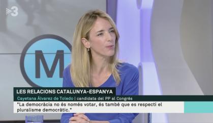 """Álvarez de Toledo planteja """"un rescat democràtic"""" de Catalunya"""