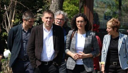 Rovira i Otegi segellen a Ginebra l'aliança d'ERC amb EH Bildu