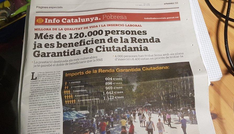 Campanya d'autobombo de la Generalitat per la Renda Garantida de Ciutadania