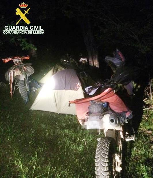 La Guàrdia Civil presenta nou denúncies per acampades il·legals al Parc de l'Alt Pirineu