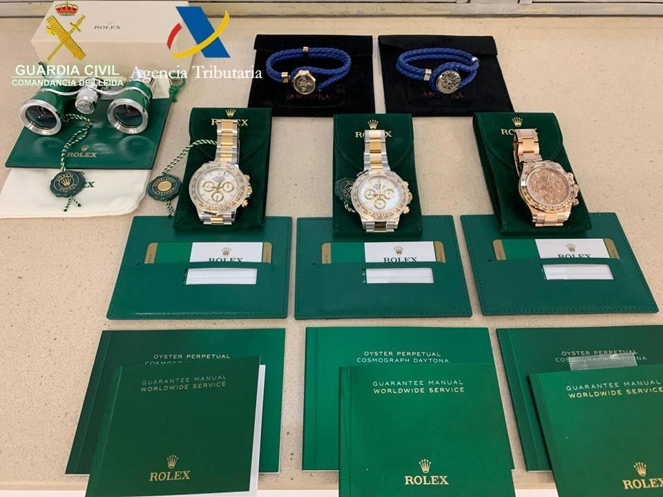 Confiscats a dos xinesos tres Rolex valorats en 56.000 euros a la Farga de Moles