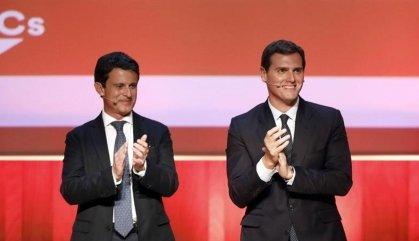 Valls i Rivera parteixen peres