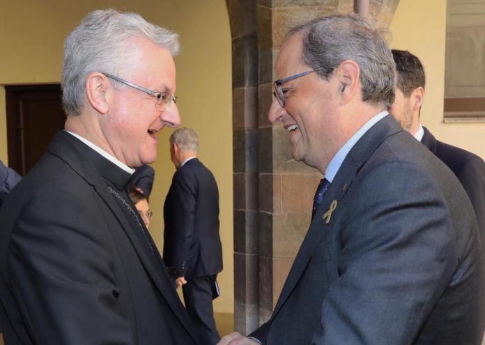 'Cimera' entre el president Torra i el Copríncep Vives
