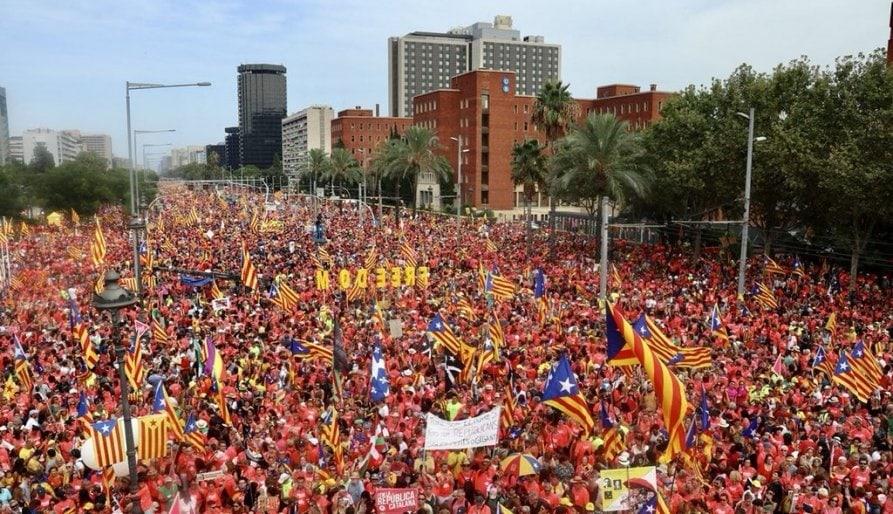 La xifra d'inscrits a la manifestació de la Diada a Barcelona cau un 25%