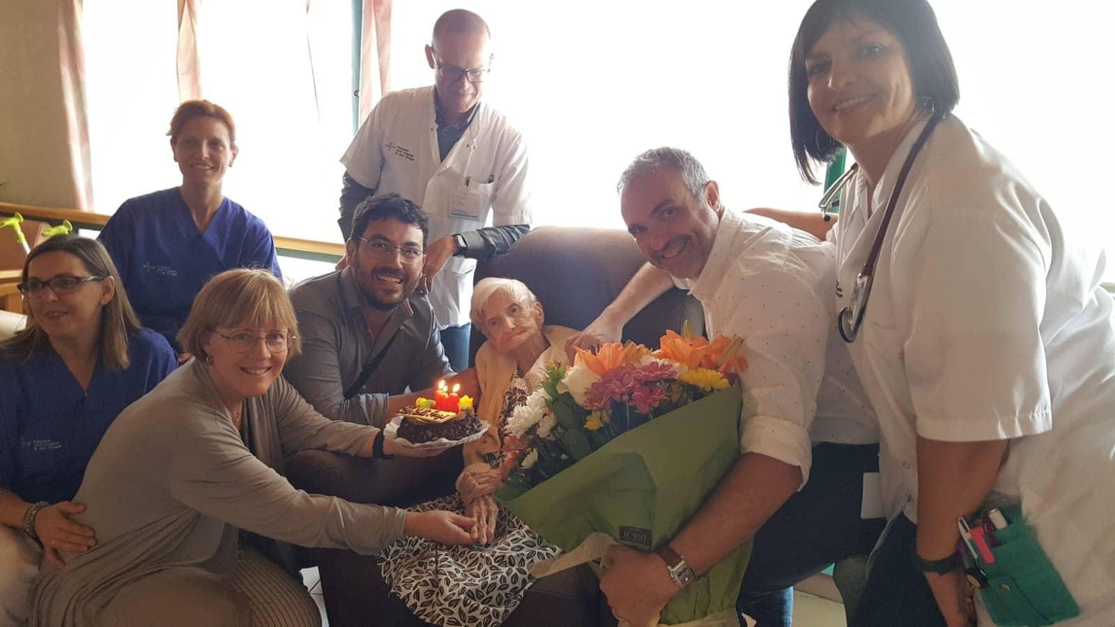 La Seu d'Urgell celebra l'aniversari de la seva àvia centenària