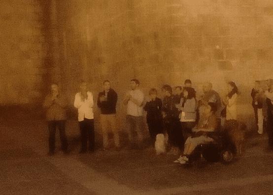 L'alcalde i vicealcalde de la Seu participen en la concentració a favor dels CDR detinguts