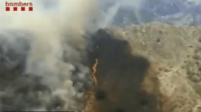 Extingit l'incendi d'alta muntanya a Unarre, al Pallars Sobirà