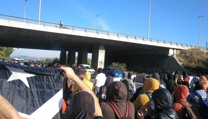 Els CDR tallen carreteres per vetar l'accés dels manifestants de SCC