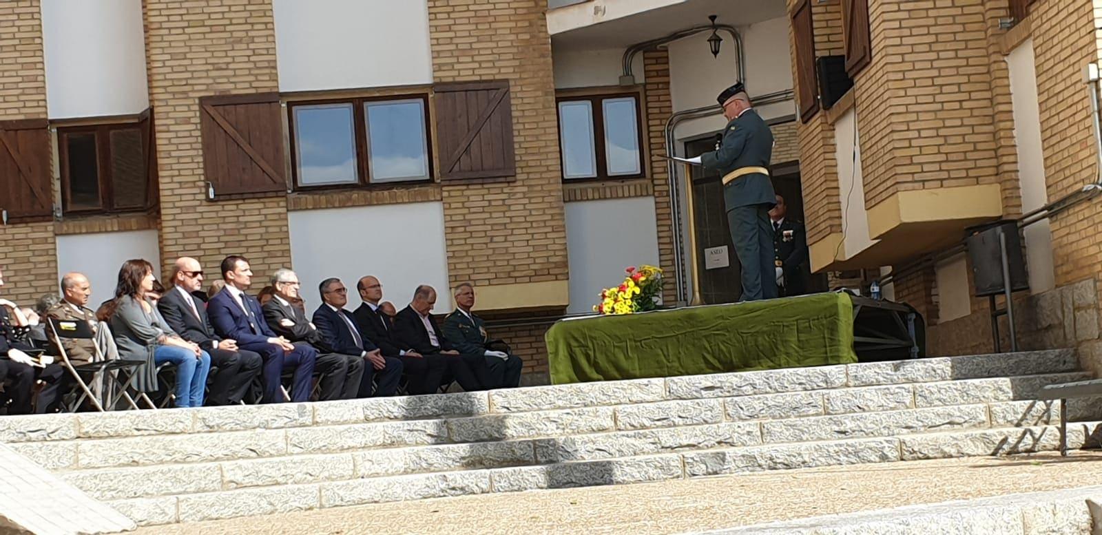 Àngel Ros i Jordi Gallardo presents a la festa de la Guàrdia Civil a la Seu d'Urgell
