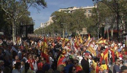Els constitucionalistes es manifesten contra el procés a Barcelona