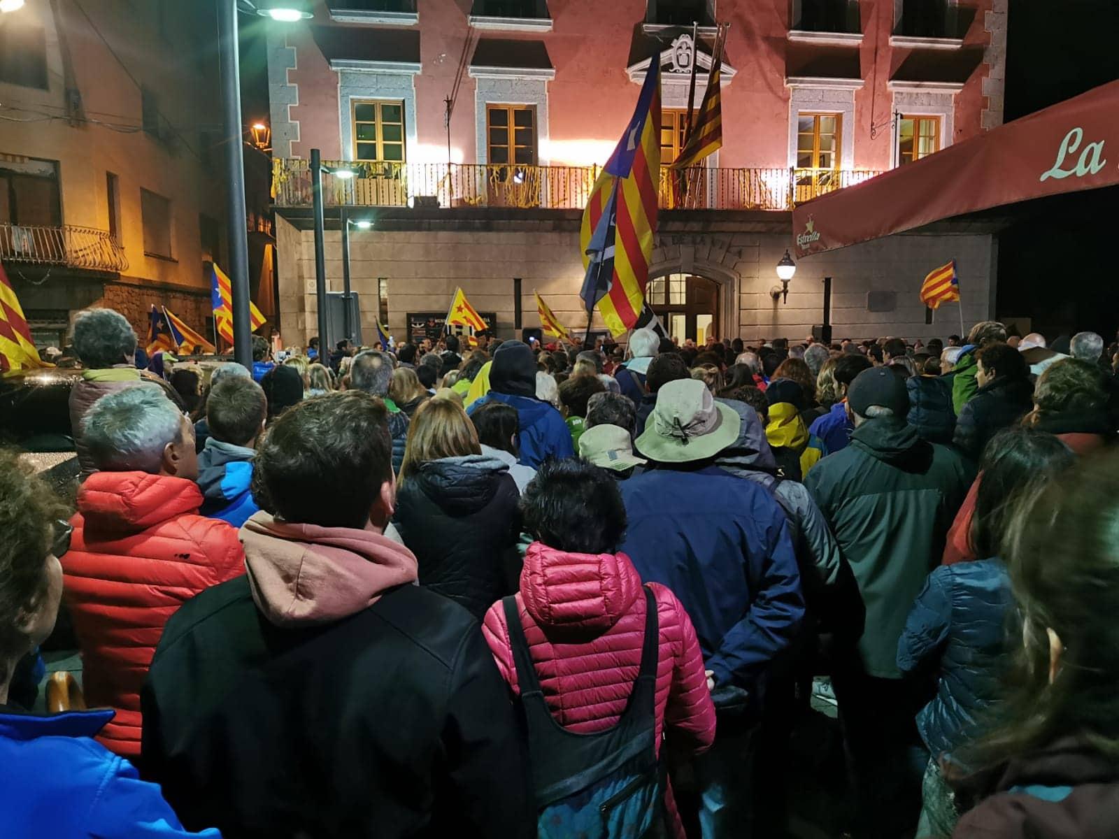 Puigcerdà i Andorra acullen concentracions en rebuig a la sentència del 'procés'