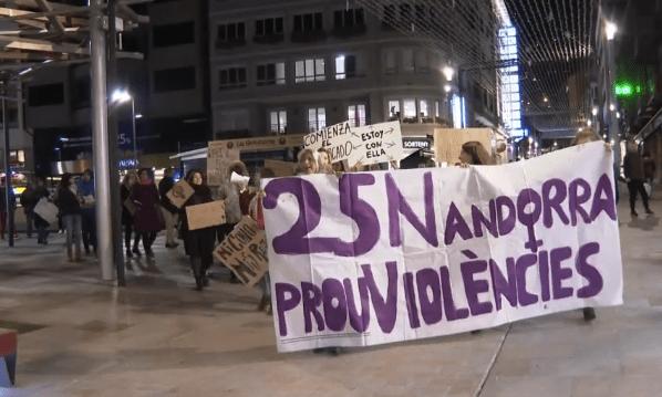 Andorra i la Seu es manifesten contra la violència de gènere