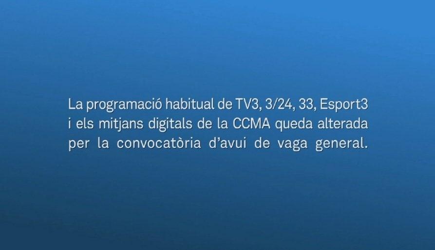 Nervis a la direcció de la CCMA per la vaga a TV3