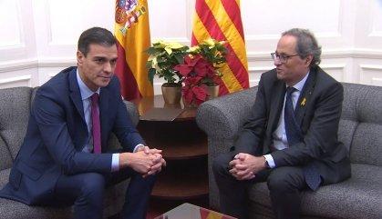 Sánchez menysté les pretensions de tracte preferent de Torra