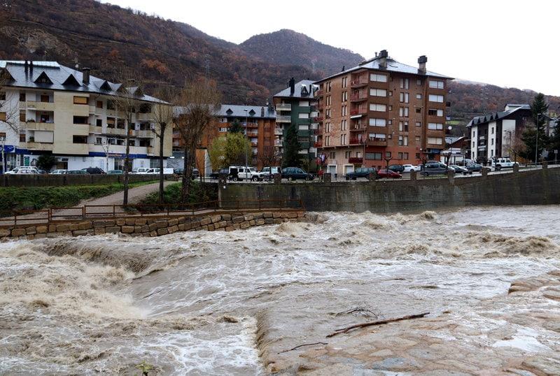 Les pluges fan créixer els cabals del rius del Pirineu i Prepirineu